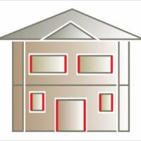 Listwa elewacyjna lub pilastr w połączeniu z gzymsami nadokiennymi jako ozdoba boków, okna i drzwi. Montaż listew po bokach okien i drzwi.