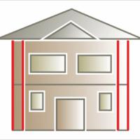 Wykorzystanie listwy symetrcznej lub rdzeń pilastra jako ozdoba naroży budynku. Najczęściej montuje się dwa pionowe równoległe pasy listew na załamaniach elewcji.