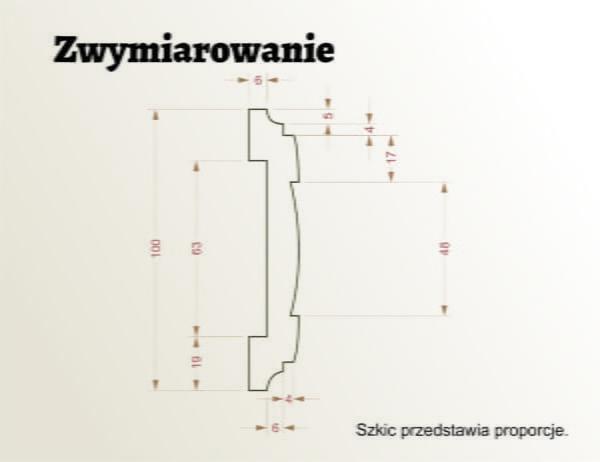 WSC26 sztukateria wewnetrzna XPS panstyropian szkic
