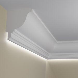 WSLA1 Sztukateria wewnetrzna listwa przysufitowa oswietlajaca sciane LED pr