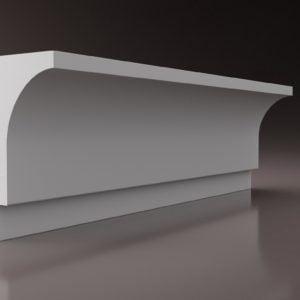 WSLA10 Sztukateria wewnetrzna listwa przysufitowa oswietlajaca sciane LED _studio