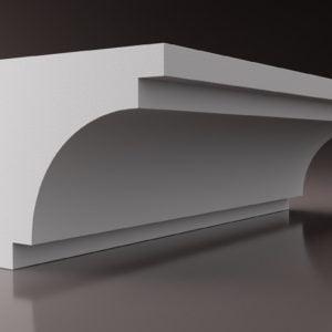 WSLA12 Sztukateria wewnetrzna listwa przysufitowa oswietlajaca sciane LED _studio