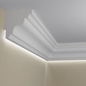 WSLA2_ Sztukateria wewnetrzna listwa przysufitowa oswietlajaca sciane LED pr