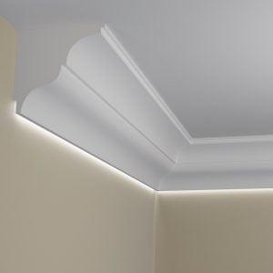 WSLA4 Sztukateria wewnetrzna listwa przysufitowa oswietlajaca sciane LED pr