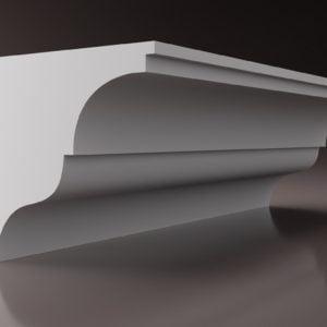 WSLA4 Sztukateria wewnetrzna listwa przysufitowa oswietlajaca sciane LED studio