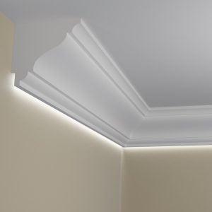 WSLA5 Sztukateria wewnetrzna listwa przysufitowa oswietlajaca sciane LED pr