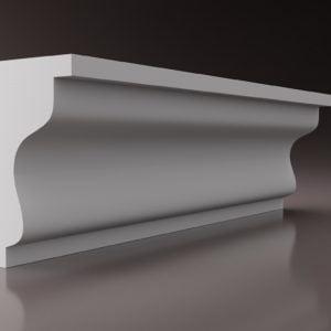 WSLA6 Sztukateria wewnetrzna listwa przysufitowa oswietlajaca sciane LED studio