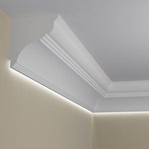 WSLA8 Sztukateria wewnetrzna listwa przysufitowa oswietlajaca sciane LED pr