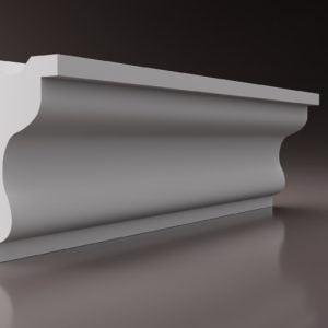WSLS18 Sztukateria wewnetrzna listwa przysufitowa oswietlajaca sufit LED _studio