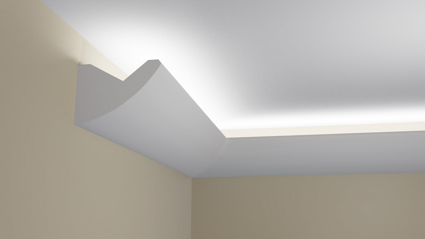 Masywnie WSLS39 - Listwa przysufitowa do oświetlenia (LED) sufitu - listwy UO01
