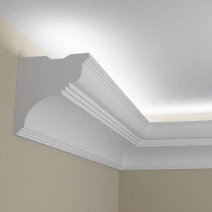 WSLS4_ Sztukateria wewnetrzna listwa przysufitowa oswietlajaca sufit LED pr