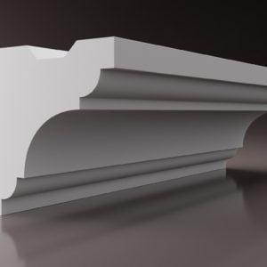 WSLS5_ Sztukateria wewnetrzna listwa przysufitowa oswietlajaca sufit LED studio