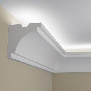 WSLS6_ Sztukateria wewnetrzna listwa przysufitowa oswietlajaca sufit LED pr