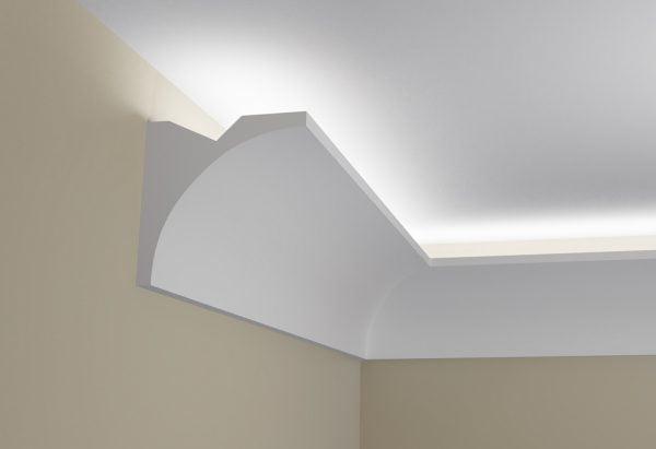 WSLS7_ Sztukateria wewnetrzna listwa przysufitowa oswietlajaca sufit LED pr
