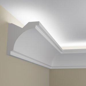 WSLS8_ Sztukateria wewnetrzna listwa przysufitowa oswietlajaca sufit LED pr