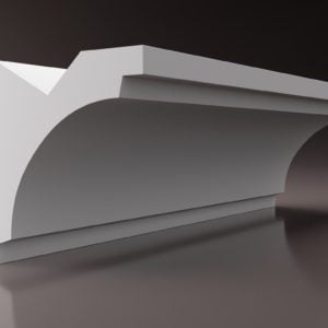 WSLS8_ Sztukateria wewnetrzna listwa przysufitowa oswietlajaca sufit LED studio
