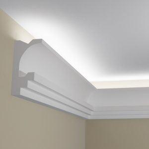 WSLS9_ Sztukateria wewnetrzna listwa przysufitowa oswietlajaca sufit LED pr