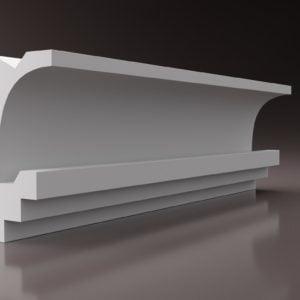 WSLS9_ Sztukateria wewnetrzna listwa przysufitowa oswietlajaca sufit LED studio