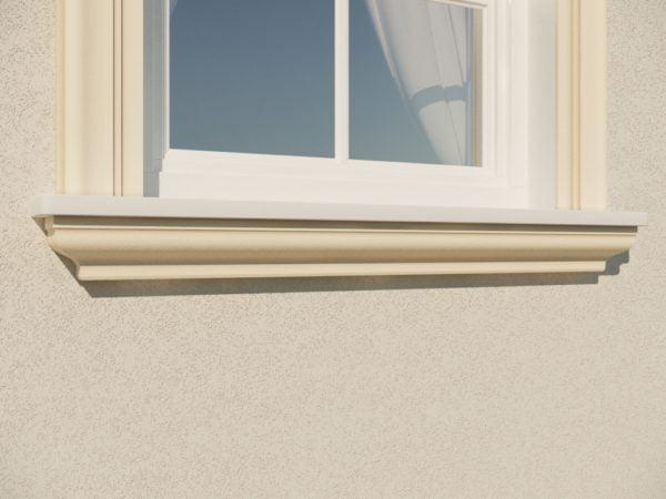 EG17 Gzyms elewacyjny podparapetowy nadokienny posredni sztukateria elewacyjna dach panstyropian eps200 P
