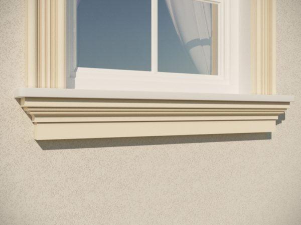 EG34 Gzyms elewacyjny podparapetowy nadokienny posredni sztukateria elewacyjna dach panstyropian eps200 P